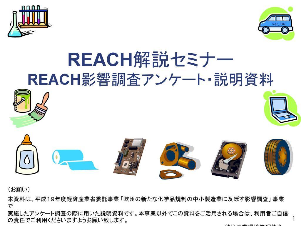 REACH解説セミナー REACH影響調...