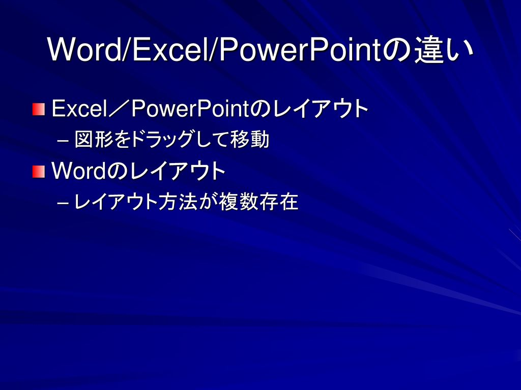 Word/Excel/PowerPointの違い