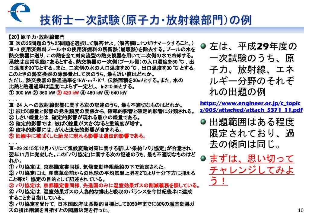 公益社団法人 日本技術士会 原子...