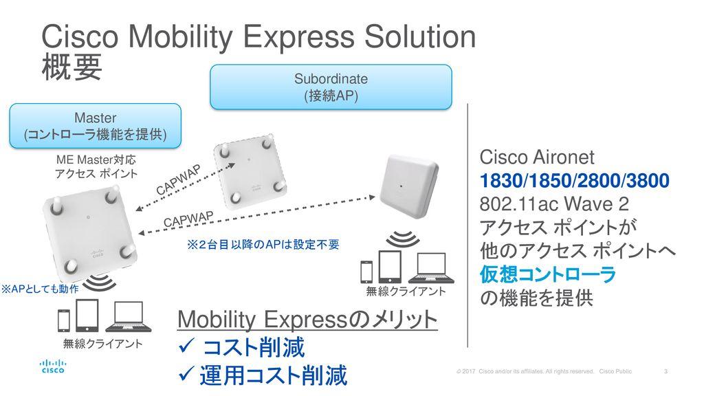 Cisco Mobility Express Solution アップデート [再改訂版